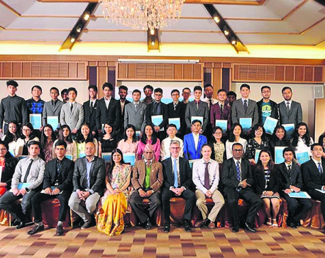 Three Nepali students receive 'Top in the World' award