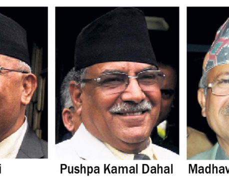 Three NCP leaders at equilibrium in power-sharing