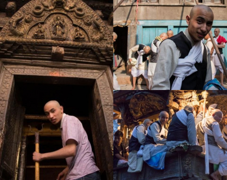 Seto Machhindranath temple's youngest teen priest