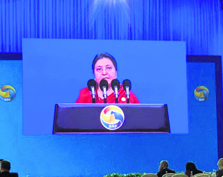 Prez Bhandari in Beijing says entire South Asia will benefit from BRI