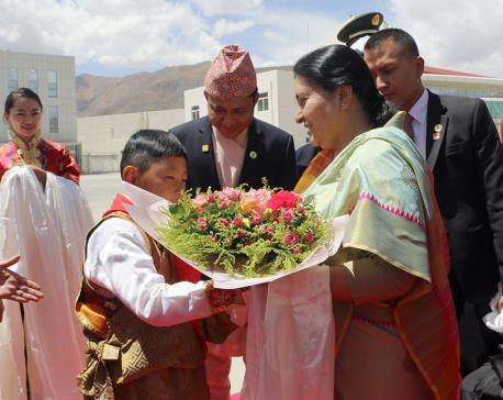 President Bhandari in Lhasa