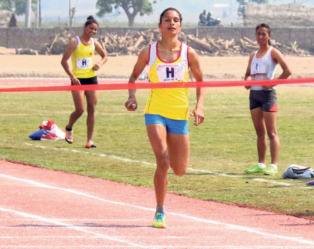 Army team and Province 5's Santoshi Shrestha set new national records