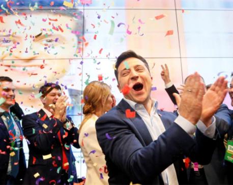 Comedian Zelenskiy wins Ukrainian presidential race by landslide: exit polls