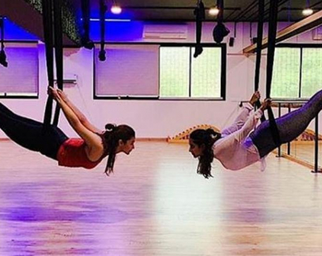 Alia Bhatt's picture doing aerial yoga will give you ultimate fitness goal