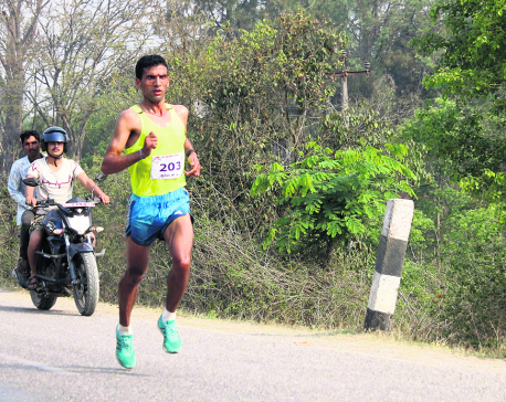 Basnet adds gold in marathon as Army dominates athletics
