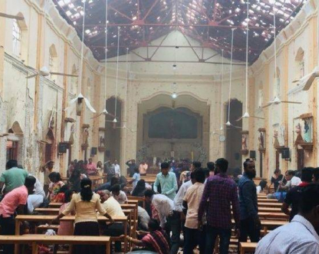 Explosions hit 2 churches in Sri Lanka on Easter Sunday