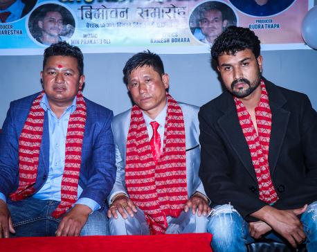 Kumar Basnet launches 'Ghamko Chhaya'