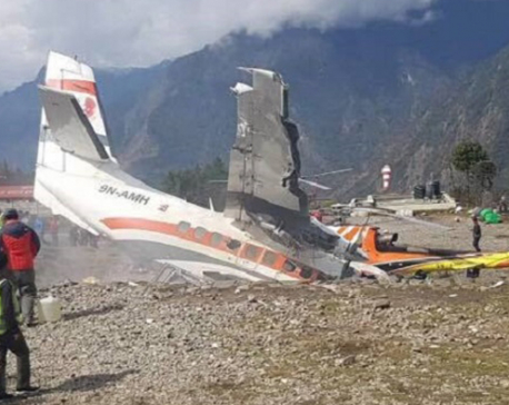 3 killed as Summit Air plane crashes into parked helicopter in Lukla