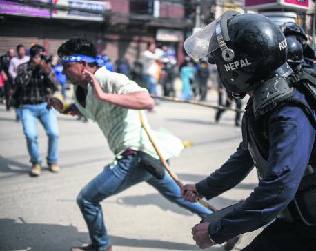 Police baton-charge RPP protestors in capital, detain 20 in Pokhara