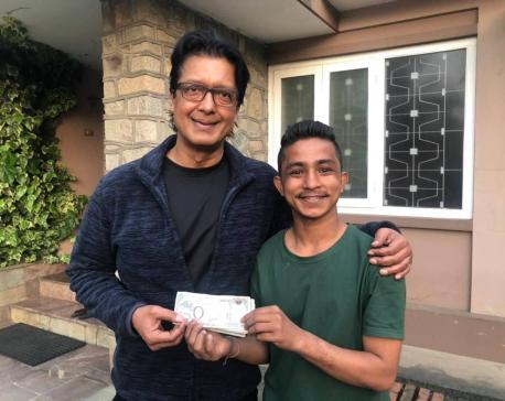Megastar Rajesh Hamal donates 100,000 for social cause