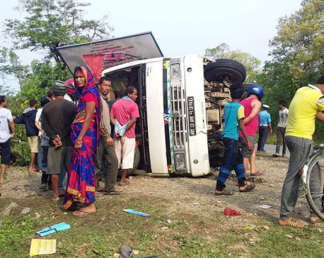 Three killed, 31 injured in Sarlahi bus mishap carrying Joshi Hydropower staffers