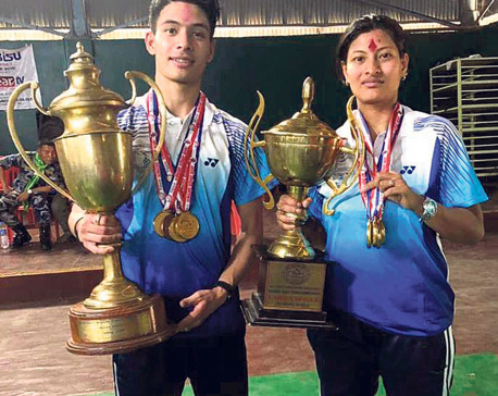 Santoo, Nabita win gold in table tennis