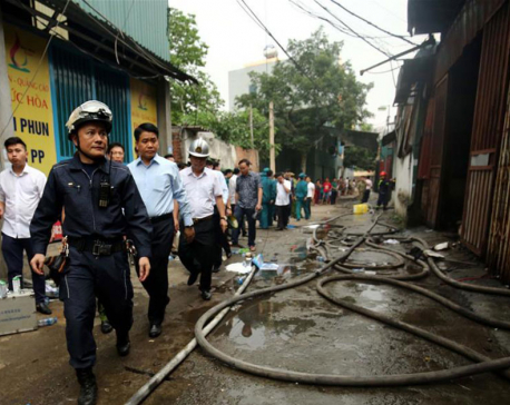 Workshop fire kills 8 in Vietnam's capital