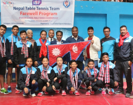 Nepali table tennis team leave for India