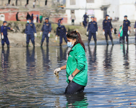 Four metric tonnes of waste collected from Bagmati River clean-up campaign