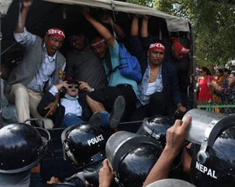 14 individuals held during demonstration in capital