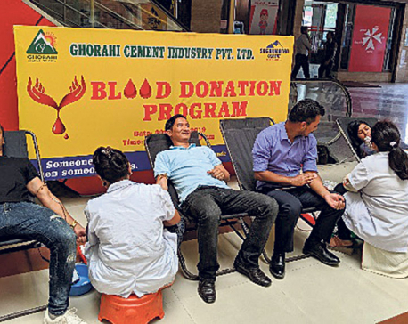 Ghorahi Cement organizes blood donation drive