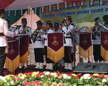 Embassy organizes flag hoisting ceremony to mark 73rd Independence Day of India (with photos)