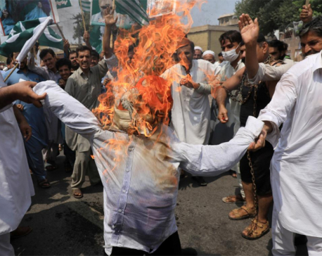 Tens of thousands of Pakistanis hold anti-India demonstration over Kashmir