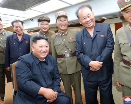 N. Korea says Kim supervised weapons tests, criticizes Seoul