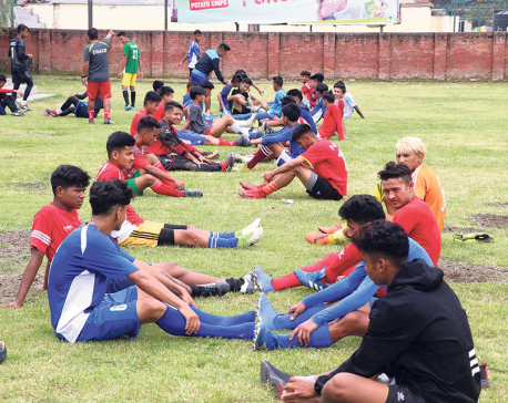 Nepal U-18 football team starts preparations for SAFF