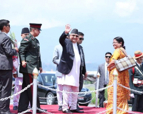 PM Oli leaves for Singapore for health check-up