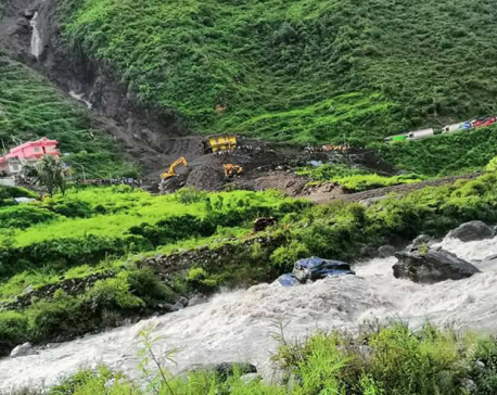 260 households flee after flood in Bhotekoshi