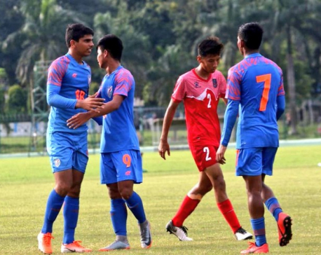 Nepal loses to India 7-0 in SAFF U-15 Championship finals