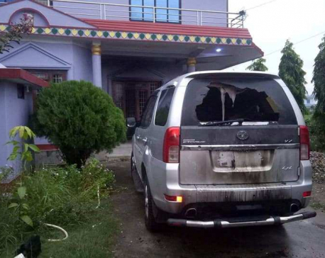 Unidentified group hurls petrol bombs at NCP leader's house in Rupandehi