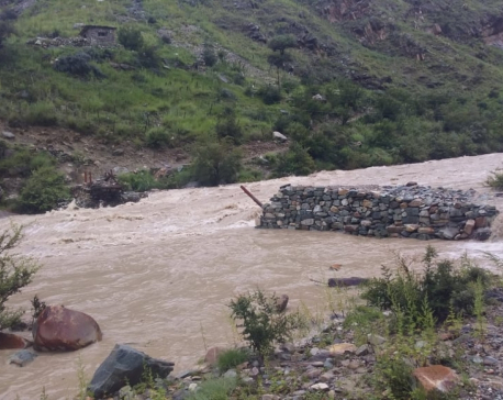 Way to Phoksundo disrupted as bridge swept way