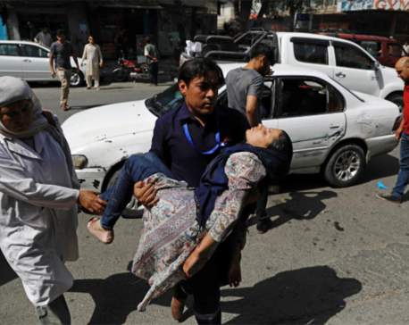 Car bomb attack on police in Afghan capital wounds at least 34