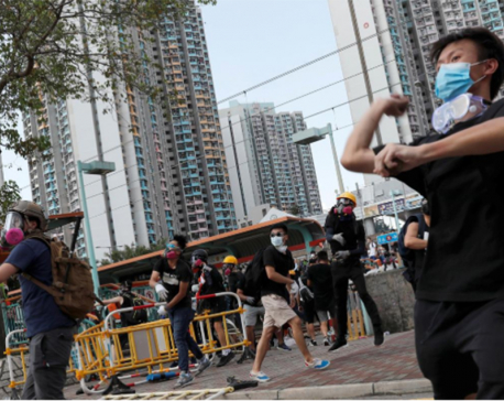 Hong Kong police fire tear gas, water cannon in latest clashes