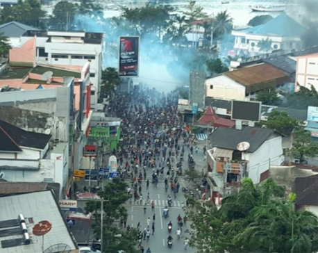 Violent protest erupts in capital of Indonesia's Papua