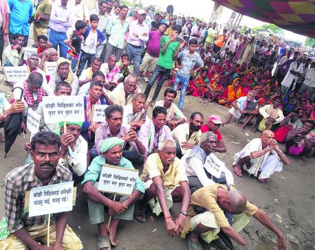 Koshi Barrage victims still await compensation, start relay sit-in