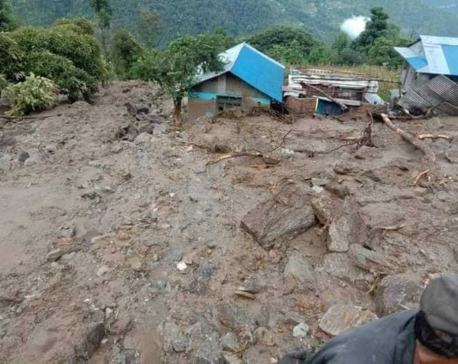 Two persons go missing, ten houses buried in Dolakha landslides