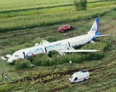 Russian pilot says landing in corn field was his only chance