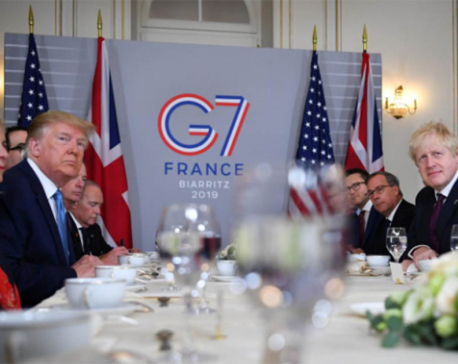 Trump paints picture of unity at prickly G7 summit