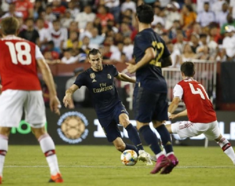 Bale makes goalscoring return as Real edge Arsenal on penalties