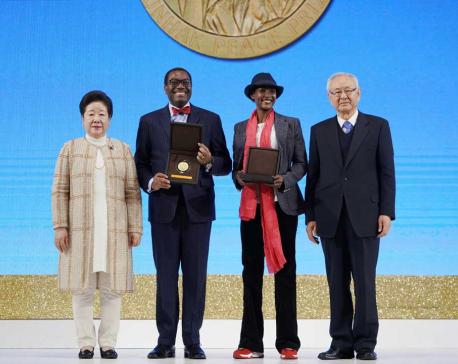 '2019 Sunhak Peace Prize' awarded to Waris Dirie, Akinwumi Ayodeji Adesina