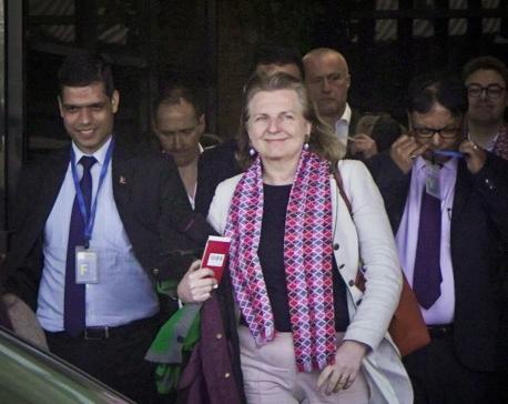 Austrian foreign minister in Kathmandu