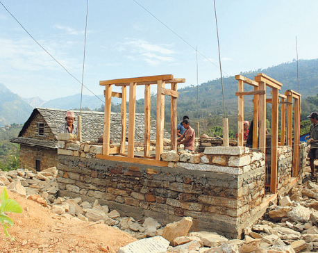 Reconstruction in northern Gorkha halted for a week