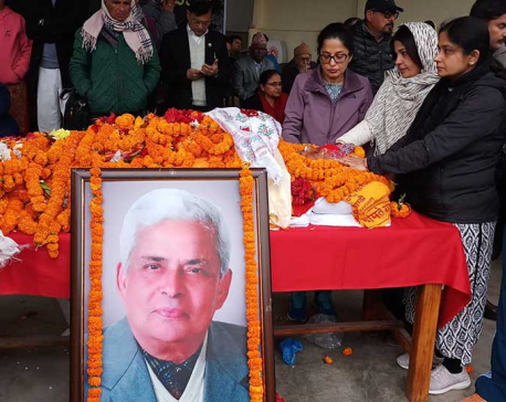 NCP passes condolence motion on demise of its senior leader Adhikari
