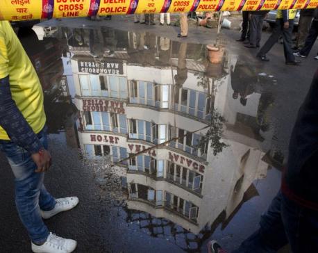 17 killed in fire at shoddy New Delhi hotel, 4 others hurt