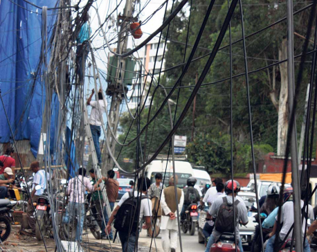 Electricity cables to go underground in Kathmandu