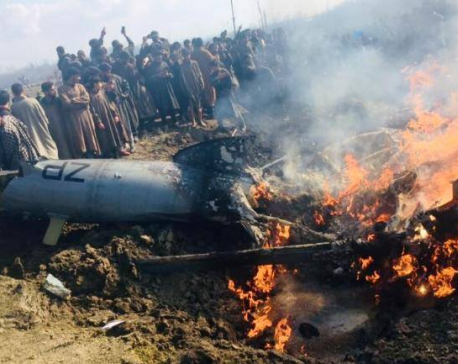 Indian Air Force jet crashes in Kashmir, killing at least one
