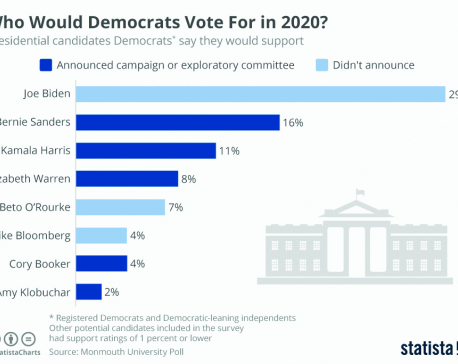 Infographics: Who would Democrats vote for in 2020?