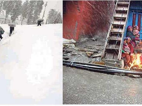 Heavy snowfall shuts down schools in Mugu