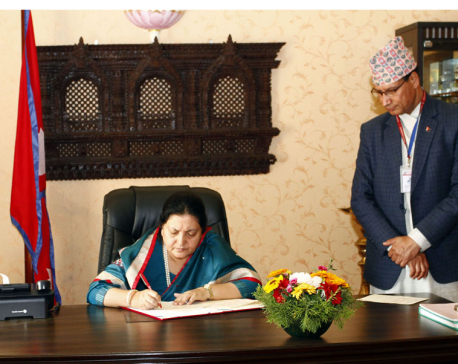 President certifies three bills