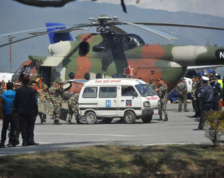 Bodies of helicopter crash airlifted to Kathmandu