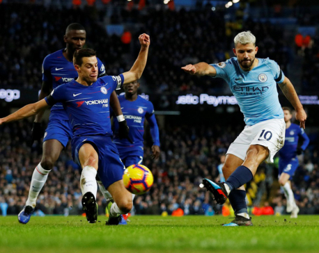 Man City hit Chelsea for six as Aguero grabs hat-trick
